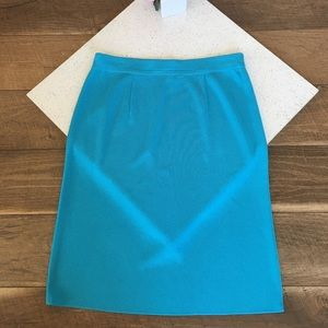 Exclusively Misook aqua blue skirt Small